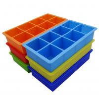 Buy cheap Square Silicone Ice Tray Molds , Novelty Ice Molds 8 Cavity Stackable product