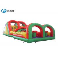 China Colorful Inflatable Obstacle Course Giant Obstacle Course Jump House on sale