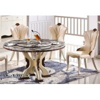 Buy cheap 8 persons round marble table with Lazy Susan hotel dining room furniture product