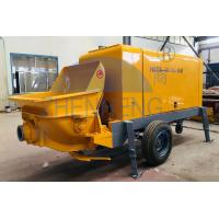 Buy cheap Hood Rigidity Concrete Mixer Pump Machine , 40m3 / H Cement Mixer And Pump product