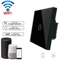 Buy cheap Wifi Light Switch For Mobile APP Remote Control touch switch white 1 Gang EU Standard product