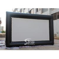 Buy cheap Custom made giant advertising inflatable movie screen with back frame for outdoor use product