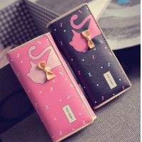 China Tie cat wallet 2016 new Miss Han Ban lovely cartoon printed long section of loose change on sale