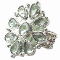 Buy cheap Flower with tear-drop of elastic ring product