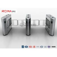 Buy cheap DC24V Brush Biometric Electric Swing Barrier Gate 20W RS485 Access Control Turnstile product