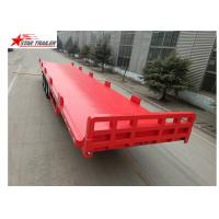 Buy cheap 13 Meters 3 Axles Commercial Flatbed Trailer With Dual Line Brake System product