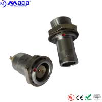 China Female Quick Release Metal Circular Connectors With Panel Mount PPS Insulator on sale