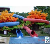 Fiberglass Children Water Slide for a water park Blue / Yellow  / customized for Kids Water Park