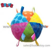 China Safety Plush Baby Ball Toy Stuffed Infant Ball Toy With Ribbon on sale