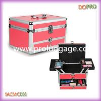 Buy cheap Aluminum Makeup Vanity Case Pink Beauty Box (SACMC005) product