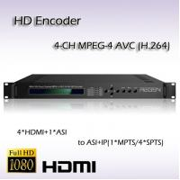 Buy cheap 4*HDMI TO ASI&IP MPEG-4 AVC/H.264 AAC Audio Encoding REH2204 product