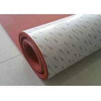 Buy cheap High Temperature Resistant Red Silicone Rubber Sheet with Backing 3m Adhesive product