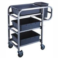 Buy cheap 3 - Layer Stainless Steel Hand Trolley With Basins And Buckets product