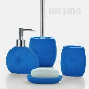 Buy cheap Royal Blue Color Bath Accessories Set / 4 Piece Polyresin Bathroom Set (WBP0343A) product