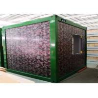 Quality Camouflage Color Flat Pack Container Homes With Galvanized Steel Frame Structure for sale
