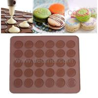 Buy cheap 30-Capacity Round Shaped Non Stick Heat Resistant Reusable Macarons Silicone Baking Mat product