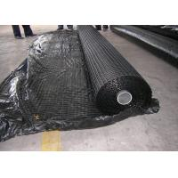 Buy cheap Warp Knitted Polyester Geogrid , High Strength Geogrid For Road Construction product