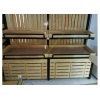 Buy cheap SGS Supermarket Wooden Display Rack Single - Sided Electrostatic Spray Surface from Wholesalers