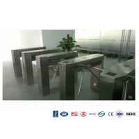 Waist High Railway Access Control Turnstiles Stainless Steel Silver RFID Reader