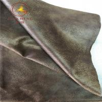 Buy cheap 2019 new design bronzing faux suede leather fabric for sofa product