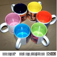 Buy cheap Export inside colors sublimation ceramic mug custom LOGO 7102 mark cup product