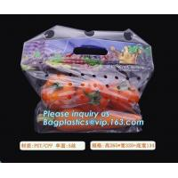 China Hang Hole Plastic Stand Up Cherry Bag Factory, Fresh fruit bag(Cherry/Lichi/grape), Perforated Standup Bag for Fruit Pac on sale