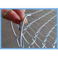Heavy Duty Chain Link Fence Fabric , Twisted Edge Wire Fence Panels 50 X 50mm