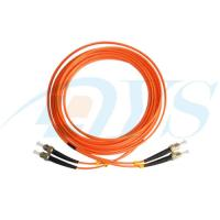 China Red Duplex Optical Fiber Patch Cord ST / MM / DX With Single Mode on sale