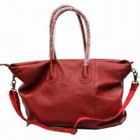 China Red leather handbag, OEM and logo services are provided on sale