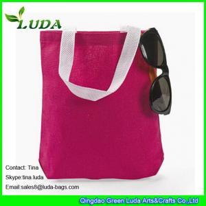 Buy cheap LUDA wholesale red handbags cheap cotton canvas beach tote shoulder handbags product