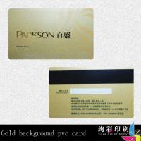 Buy cheap Customized Clear PVC Rounded Corner Business Cards Gold Hot Stamping product