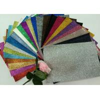 "Quality 1/128"" Glitter Mixed Colors PU Glitter Fabric PU Cloth Backing For Christmas Box for sale"