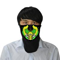 Buy cheap Best Selling 2019 Glow In the Dark EL Mask LED Rave Face Mask For Gifts Party Small wholesale sound-Activat Novelty gift product