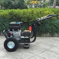 Buy cheap 9hp 4 Stroke plunger pump gasoline high pressure washer / hot , cold water pressure washer product