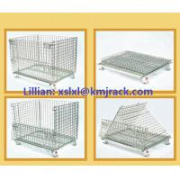 Buy cheap China Customized Warehouse Folding Steel Wire Mesh Container from Wholesalers