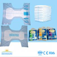 Buy cheap PE Film Cover Thick Extra Absorbent Adult Disposable Diapers Printed / Chemical Free product