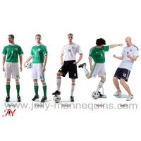 Buy cheap Jolly mannequins-sport male realistic head skin color athletic playing football mannequin TNY collection product