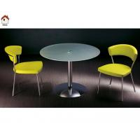 Buy cheap simple design dining room glass round dining table T248 product
