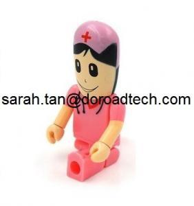 China Wholesale Plastic Doctor/Nurse Figure USB Flash Drives, Customized Figures Available on sale