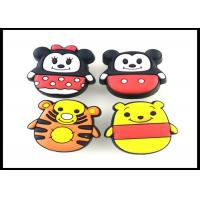Buy cheap Cute Animals Childrens Wardrobe Door Handles Rubber Yellow Tiger Knobs / Giraffe PVC Furniture Fittings product