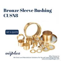 Buy cheap Lubrication Pockets Wrapped Bronze Bearings CuSn8 CW453K 092 Easy Assembly product