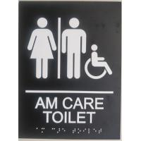 "Buy cheap Disabled Custom Restroom Signs 1/32""  White Raised Tactile Text  Grade II product"
