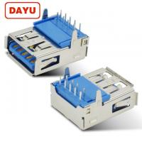 China Solder PCB USB 3.0 Female Connector With 90 Degree Straight Jack on sale