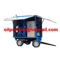 Buy cheap Mobile Trolley Mounted Transformer Oil Filtration Machine, movable insulation oil purifier with car wheels trailer product