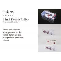 Buy cheap Titanium 3 in 1 changeable heads 180/600/1200 needle derma roller with micro needle roller product
