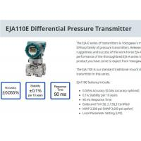 Buy cheap Industrial EJA110E Differential Pressure Transmitter For Level Measurement product