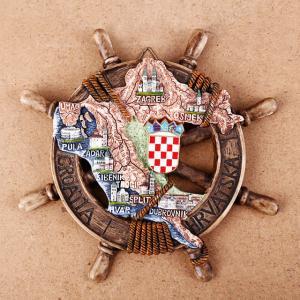Buy cheap Resin coratia fridge magnet Cute Nautical Anchor souvenir Coratia Souvenir Gift Home Decoration product