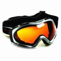 Buy cheap Anti-fog SKI Goggle with Spherical Double Lenses, Adjustable Super Elastic Jacquard Strap product