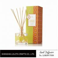 Buy cheap Clear Round Bottle Long Lasting Reed Diffuser , Room Scents Reed Diffuser product