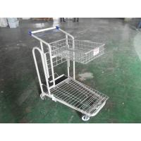 Buy cheap Heavy Duty Warehouse cargo platform Trolley Cart For Carry Goods , PU wheels product
